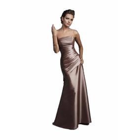 Lilasori Vestido De Fiesta Importado Color Oro Viejo Talla 9