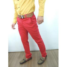 Pantalon Casual Rojo De Caballero Chevignon