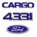 Kit Completo Emblema Caminhão Cargo 4331 + Oval Da Grade
