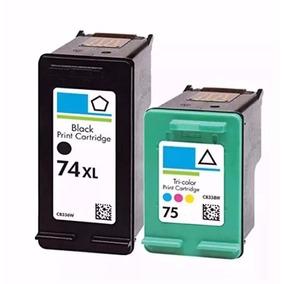Cartuchos Hp 74 Xl + 75 Impressora Hp Photosmart C4480