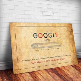 Placa Decorativa Retrô Google