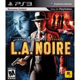 L.a . Noire Ps3 Fisico