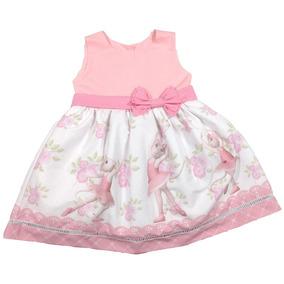 Vestido Festa Infantil Angelina Bailarina 1-6 Anos