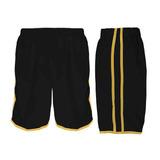 Calção Futebol Futsal Musculação-lotus-preto amarelo- Adulto 690d5db52ded9