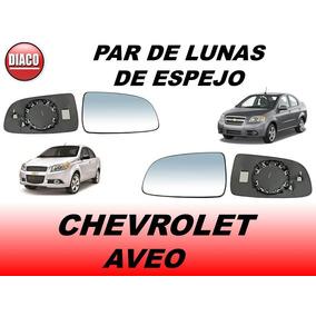 Par De Lunas De Espejo Lateral Chevrolet Aveo 2008 Al 2018