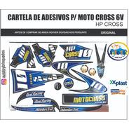 Moto Cross 6v Homeplay - Só A Cartela De Adesivos Originais