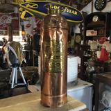 Extintor De Incêndio Vencedor Antigo Bronze Cobre Ñ Emblema