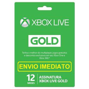 Xbox Live Gold 12 Meses Xbox 360 Xbox One Envio Em 10 Min