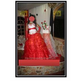 Hermoso Vestido De 15 Años Rojo