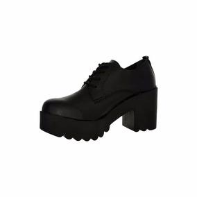 a3a1c58c0 Sapato Feminino Tratorado Bota Coturno Colegial Preto