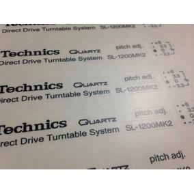 Adesivo Technics Sl-1200 Mk-ii Para Reposição