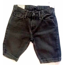 Short Negro Abercrombie Para Niñ@ Talla 14 100% Algodon