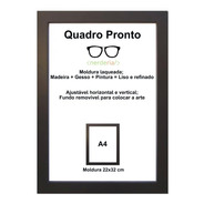 Moldura A4 Certificado/diploma Tela Acrílico