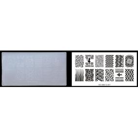 Placa De Unha Acrílico Decoração Kd-sm612 Vários Modelos