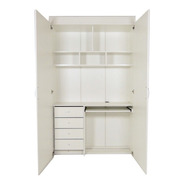 Placard Escritorio Para Oficina O Dormitorio Con Puertas Y Cerradura Multiuso Ideal Para Monoambientes 120cm - 1120