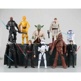 Bonecos Star Wars Darth Vader Trooper R2-d2 C-3po Kenobi