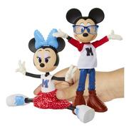 Set De Figuras Muñecos De Minnie Y Mickey Mouse Articulados