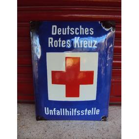 Cartel Enlozado Antiguo Cruz Roja Alemania ( Original )