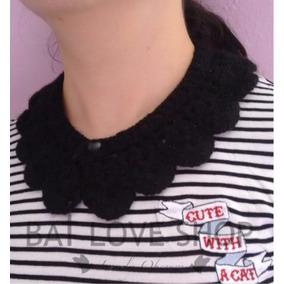 Collar Cuello Peter Pan Tejido Goth Alternativo Crochet