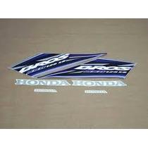 Kit Jogo Adesivo Faixa Moto Nxr Bros 125 Ks 2005 05 Azul 659