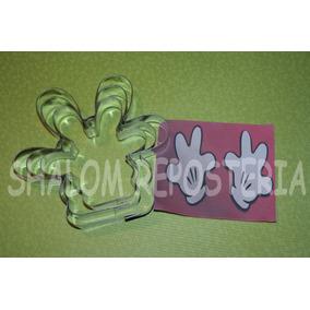 *kit 3 Cortadores Galleta Manos Mickey Mouse Royal Fondant*