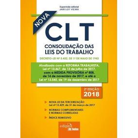 Clt 2018 - Consolidação Das Leis Do Trabalho