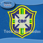 Patch Bordado Copa 2014 Seleção Brasil Escudo Cbf 6cm Sel50
