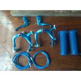Kit Freio Punhos Caloi Cross Extra Light Azul Paralelo 1227