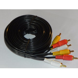 15 Metros Cable 3 Rca Av Audio Vídeo Largo Dvd Decodificador
