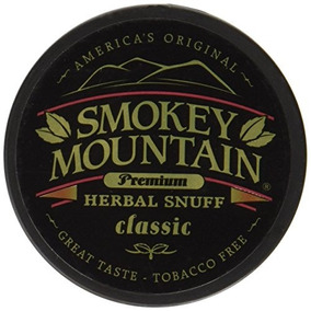 Smokey Mountain Snuff, 5 Latas - Clásico - Libre De Tabaco,