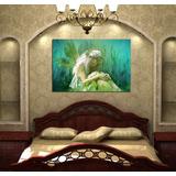 Cuadro Hada Magia Mujer Fairy Verde Bosque Hechizo 40x60cm