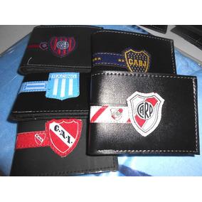 Billetera Hombre Equipos Futbol Simil Cuero Escudo Dia Niño