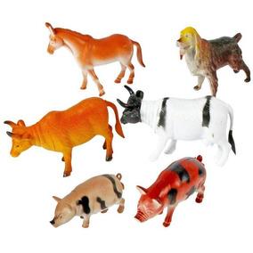 Mini Brinquedo Animais Fazendinha 6 Un Festa Coleção Maquete