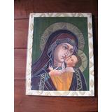 Iconos Imágenes Religiosas Artesanales. Virgen Korsoen