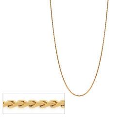 Corrente 50 Cm Fol A Ouro 18k Fio Diamantado Rommanel 531630