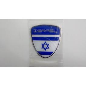 Bandeira De Israel Adesivo Resinado Escudo C/ Paises