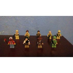 Set 9 Figuras Originales Lego Indiana Jones