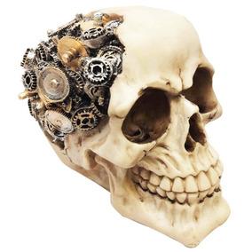 Figura Cráneo Con Engranes | Steampunk