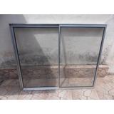 Janela De Aluminio 1,20 De Comp. Por 1,00 De Altura C/vidro