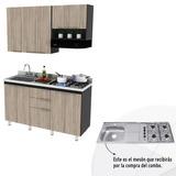 Cocinas Combo Cocina Aroca 1.50 Metros + Mesón En Acero Ch04