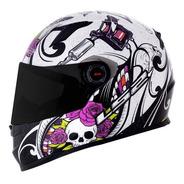 Capacete Moto Ls2 Ff358 Pigment Branco Rosa Tam. 61