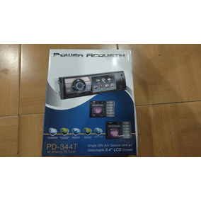 Autoestereo Pantalla 3.4 Power Acoustik Dvd Usb Tv Tuner