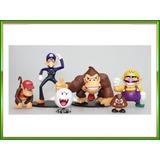 Lote Super Mario 6 Muñecos No Articulados Ideal Coleccion