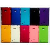 Capa Case Capinha Emborr. Colors Nokia Lumia 720 + Película