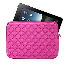 Capa Case Para Tablet E Ipad 7 A 7,8 Polegadas Rosa Coração