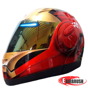 Capacete Moto Pintura Personalizada Homen De Ferro Iron Man