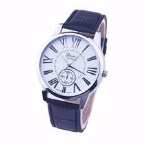Relógio Masculino Algarismo Romano-preto E Prata