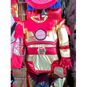 Disfraz Iron Man Ironman Capa Antifaz Guantes