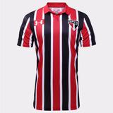 Camisa São Paulo Under Armour Tricolor Listrada 2017