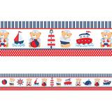 Faixa Decorativa - Ursinho Marinheiro 10 Metros